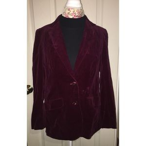 Vintage 1970s Mantessa Velvet Blazer Shows Wear